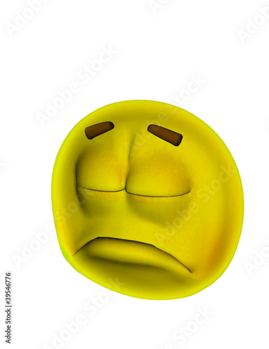 sad 3d smiley by nishagandhi
