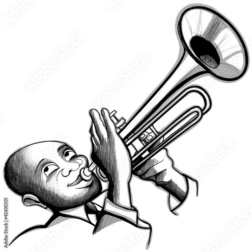 Trumpet player from Isaxar, Royalty-free vector #42600301