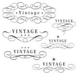 Vector: vintage monograms