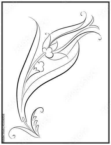 Lale Deseni Çizimi by Enes Altın, Royalty free vectors