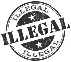 Vecteur : illegal stamp