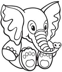 Vector: elephant toy