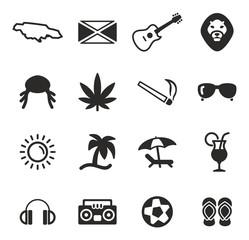 Vecteur : Jamaica Icons
