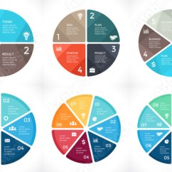 3 Arrow Circle Diagram 1978 Kz1000 Wiring Vector Arrows Infographic Cycle Graph Presentation Chart Business Concept With