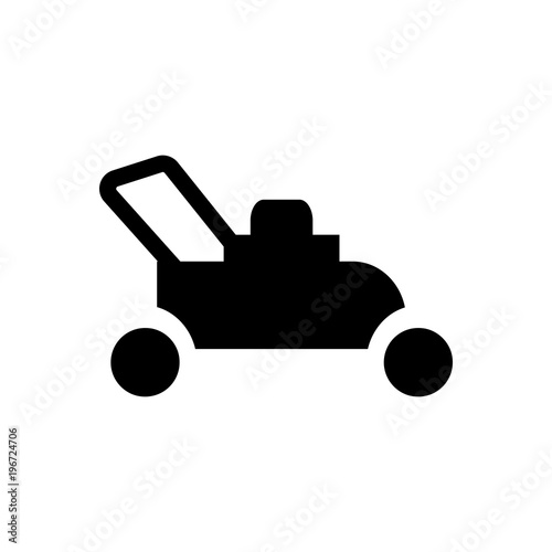 lawn mover filled vector