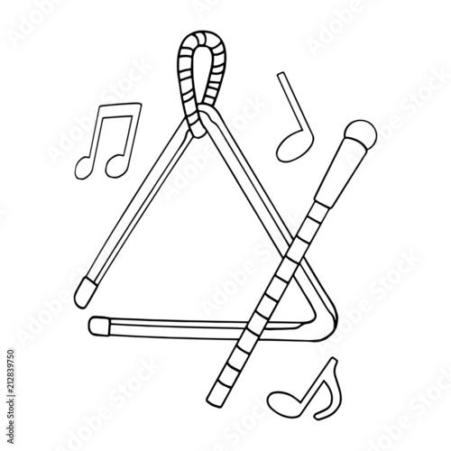 Triangle cartoon illustration isolated on white background