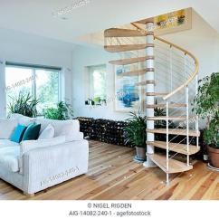 Open Plan Staircase In Living Room Pinterest Decor Spiral Stock Photos And Images Age Main Area Uk Home