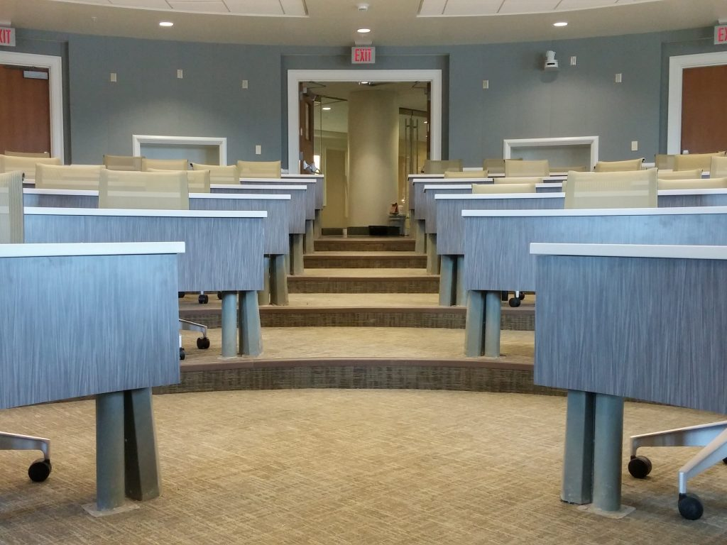 Curved laminate countertops & modesty panels