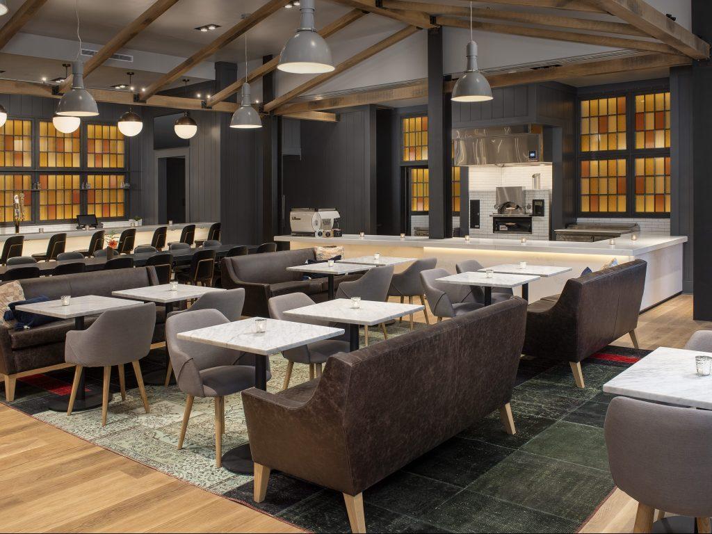 Quartz bar & cafe wall facades & countertops