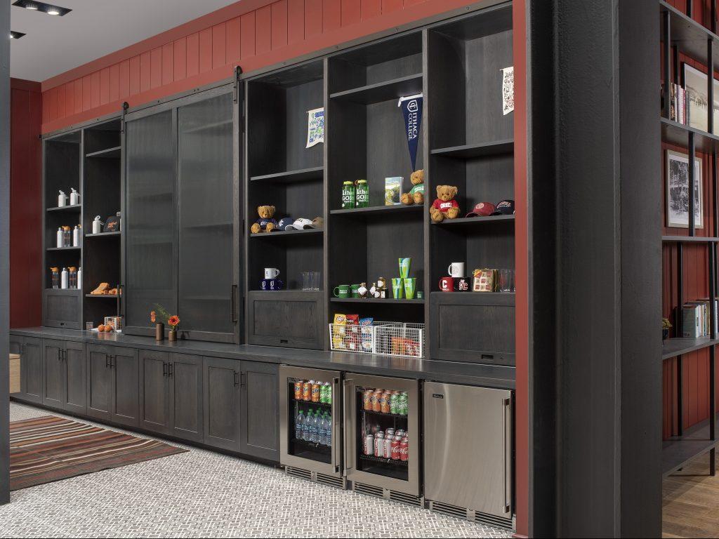 Hardwood & veneer storage wall