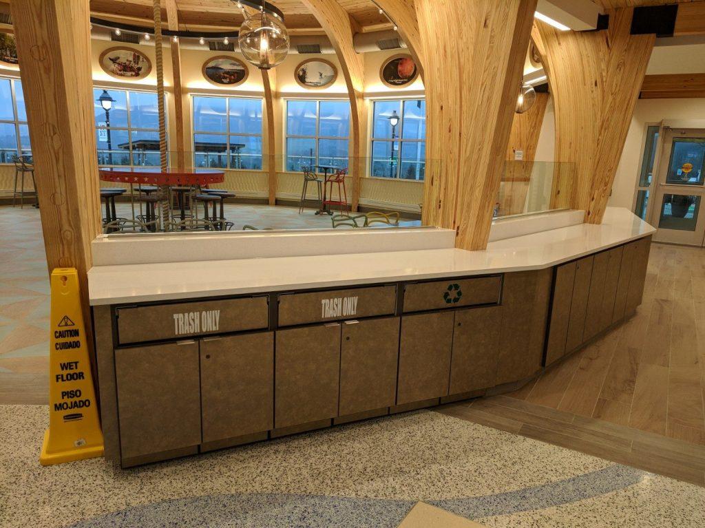 Laminate cabinetry & quartz countertop