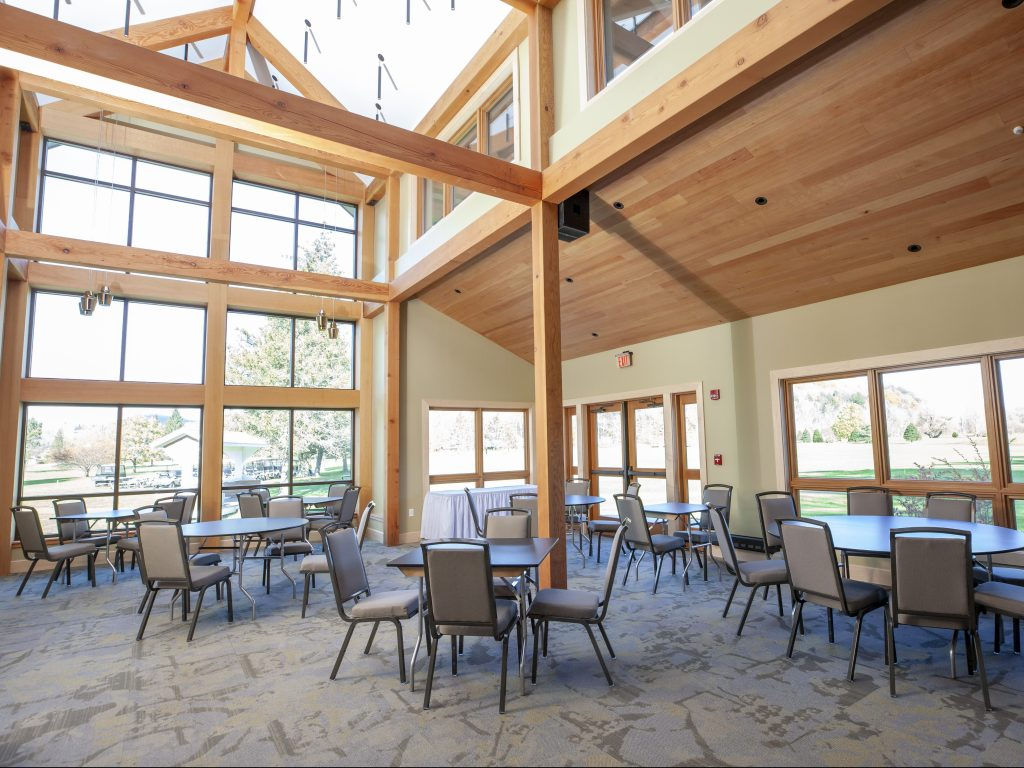 Hardwood tongue & groove ceiling & window trims