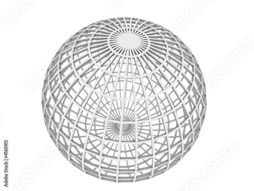 sphere wireframe stock photo