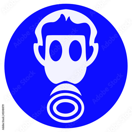 wear gas mask sign