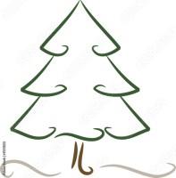 """""""Zeichnung Weihnachtsbaum / Nadelbaum"""" Stockfotos und ..."""