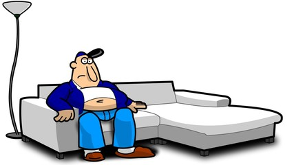 Image result for CLIPART COUCH POTATO