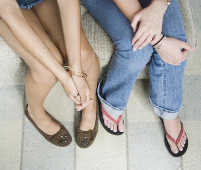Legs Of Teen Girls