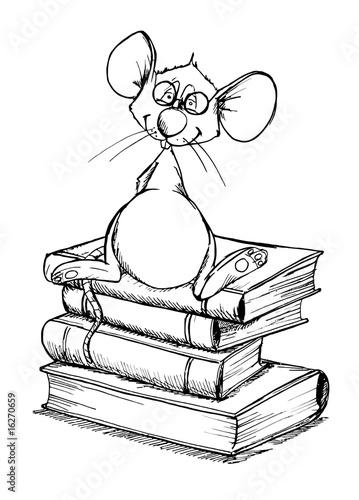 Bücher Malvorlage
