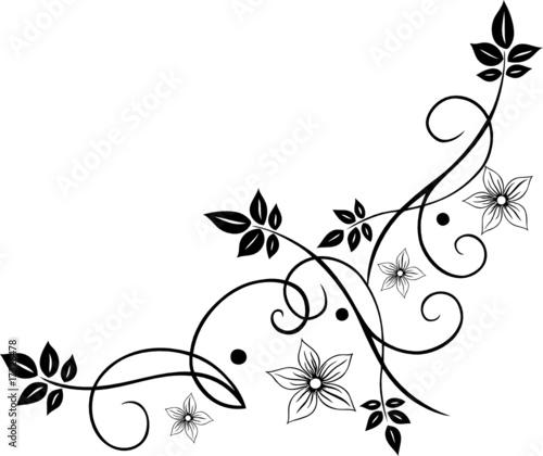Blumen Ranke filigran floral Bltter Laub Herbst