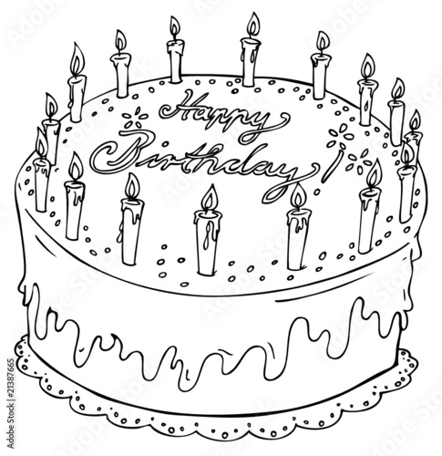 Geburtstagstorte Geburtstag 16 Kerzen Kuchen Torte