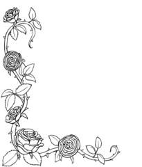 Malvorlage Blumenranke