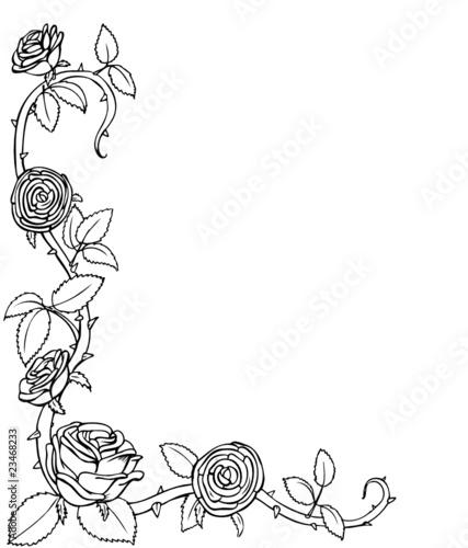 Ranke Eckverzierung Rosen Rose Rosenranke Stockfotos und lizenzfreie Vektoren auf Fotolia