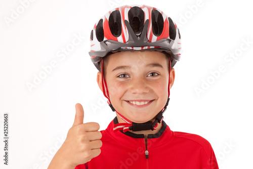 """""""Junger Radfahrer mit Helm"""" Stockfotos und lizenzfreie"""