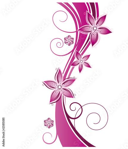 Blumen Blten Ranke floral filigran abstrakt pink