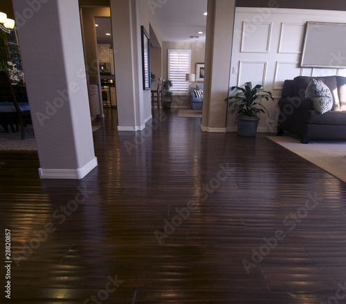 Dark hardwood flooring Stock photo and royaltyfree