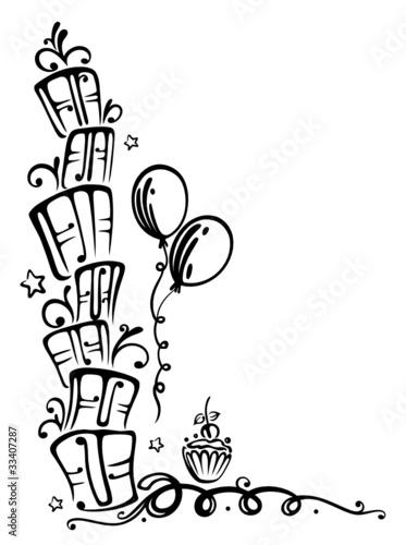 Geburtstag Geschenke birthday Ranke schwarz