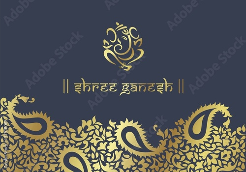 Ganesh Traditional Hindu Wedding Card Design India Stock Image And Royalty Free Vector Files On Fotolia Pic 38073666