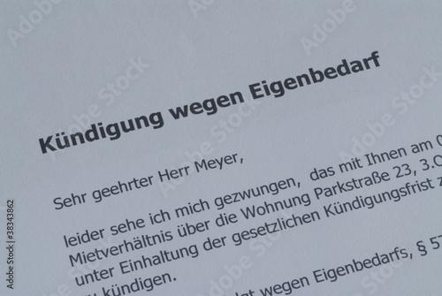 Kndigung wegen Eigenbedarf Wohnung Mietrecht Miete Stockfotos und lizenzfreie Bilder auf