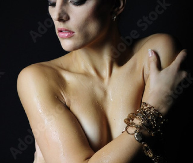 Beautiful Girl Model With Wet Body