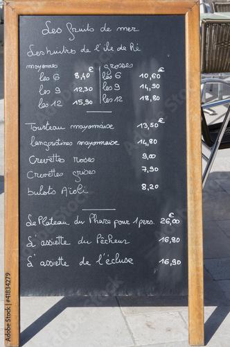 Speisekarte auf franzsisch Stockfotos und lizenzfreie