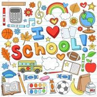 """""""I Love School Back to School Supplies Doodle Vector ..."""
