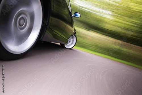 sport car in blurred motion