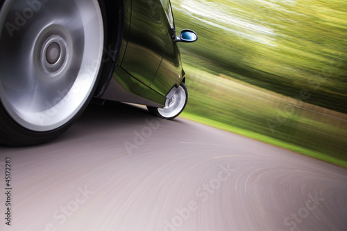 sport car in blurred motion