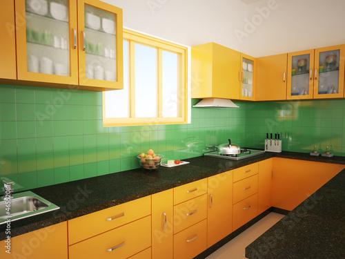 modular kitchen stock photo