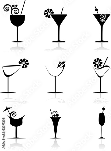 Logo Cocktails Immagini e vettoriali Royalty Free su Fotoliacom  File 52097204