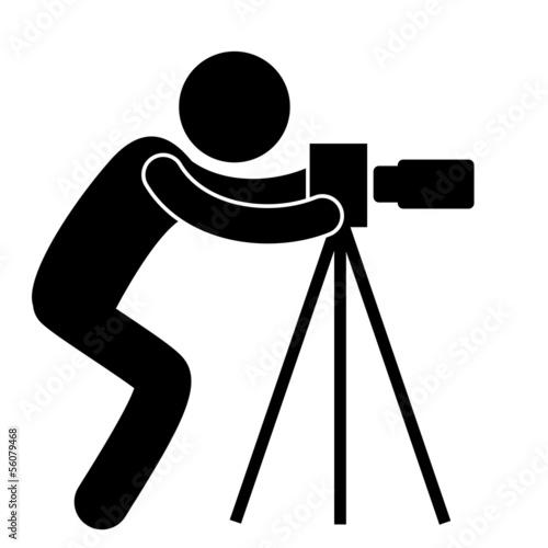 Piktogramm Fotograf Silhouette Vektor Stockfotos und