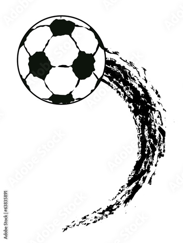 Vector Grunge Flying Soccer Ball Stock Vector