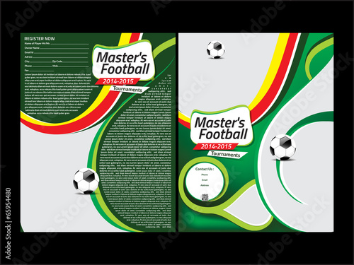 """football flyer template"""" Stock image and royalty-free vector files ..."""