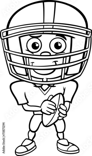 football player coloring page # 20