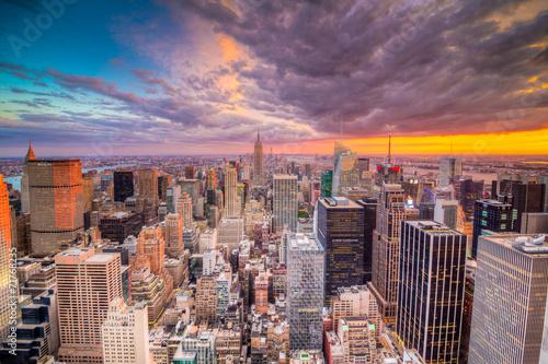 Paesaggio di citt di new york con grattaciel Stock