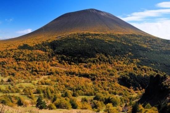 浅間山の黄葉