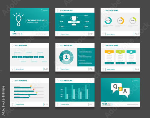 infographic business presentation template