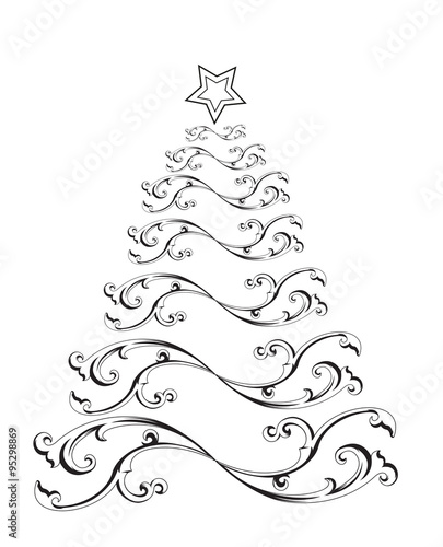 a stylized christmas tree vector albero di Natale