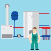 Furnace Technician With Customer photos, royalty-free ...
