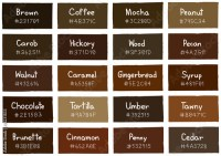 """Brown Tone Color Shade Background with Code and Name ..."