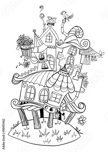 """fairy house in the form of an image outline"" stock image"